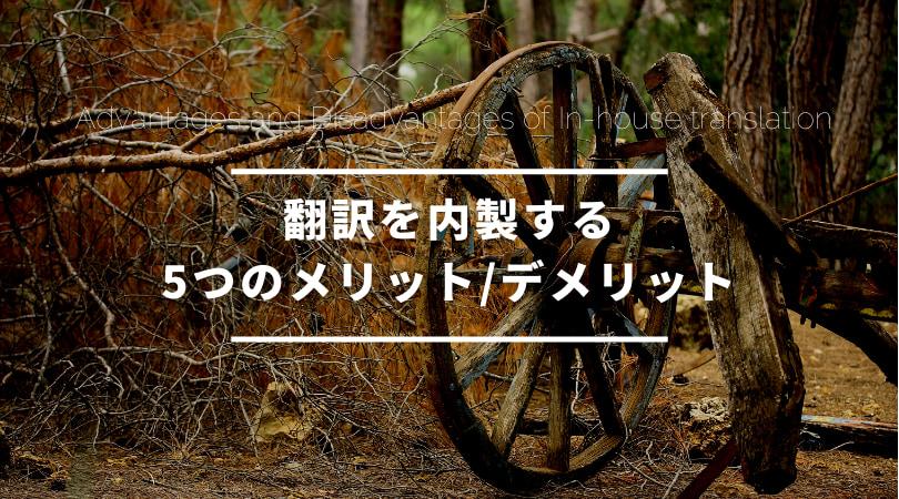 翻訳を内製する5つのメリット/デメリット